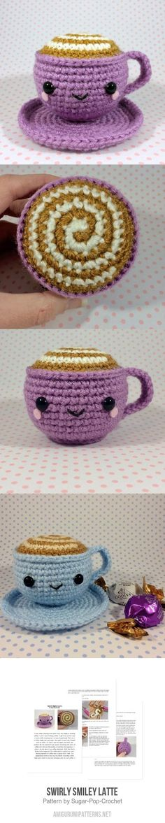 Swirly Smiley Latte Amigurumi Pattern