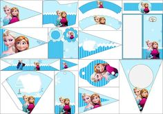 Frozen en Navidad Azul: Imprimibles Gratis para Fiestas.