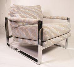 Vintage Milo Baughman Chrome Chair