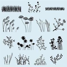 Flower Silhouettes Vectors • TulipWorks: