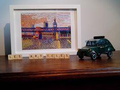 London bridge artprint from an original painting by by lesARTicles