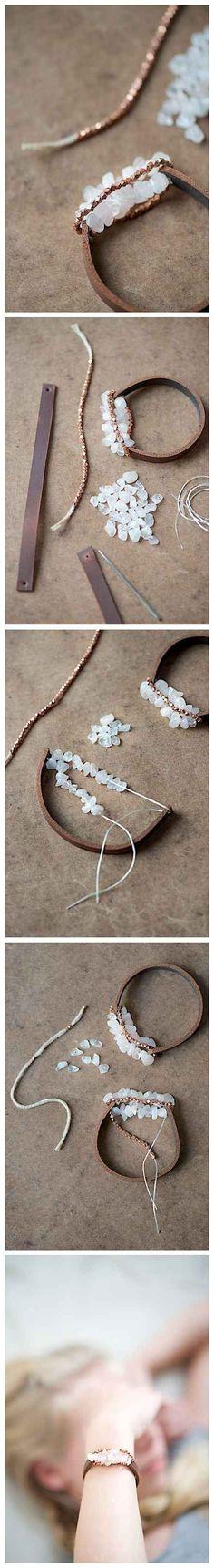 Chunky Leather Bracelet   24 Super Easy DIY Bracelets: