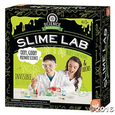 Science Academy: Slime Lab: Slimy stuff is EVERYWHERE! Our bodies make slime, animals make slime, even plants are great at creating gooey ooze. This entertaining kit makes it fun, easy and safe to make a variety of slimes and learn about the chemistry that occurs behind the scenes. You will grow gruesome rat gizzards, generate creepy floating eyeballs, extrude tadpoles and leeches and even explore special effects. #MindWareToys #ScienceAcademy #CuriousScience
