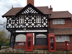 Phone boxes at Port Sunlight  Liverpool by Tonyfoster, via Flickr