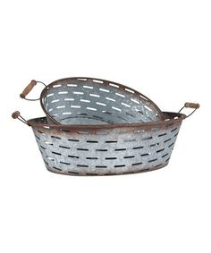 This Olive Basket Set is perfect! #zulilyfinds