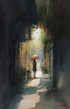 Kai Fine Art is an art website, shows painting and illustration works all over the world. Art Watercolor, Watercolor Landscape, Landscape Art, Landscape Paintings, Fine Art, Fantasy Art, Concept Art, Art Drawings, Art Photography