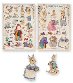 I used to love to play w/ paper dolls when I was little.  These bunnies are to cute.