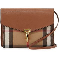 Burberry Check & Leather Small Crossbody Bag