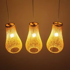 Creative Personality Pendant Lamp Three Pastoral Art Lighting Bamboo Dinning Room Bar Aisle Lamp Chandelier Lighting