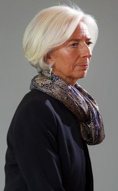 The 20 Hottest Bob Hairstyles for 2015. Christine Lagarde, grey hair