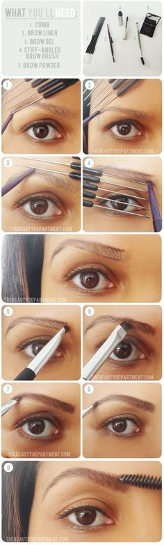 Tips for Getting the Perfect Eye Brows www.vintageclothin.com