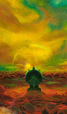 Paul Lehr (1930-1998). Orbs in Yellow. Acrylic on masonite. 18.5 x 11 in. (sheet).