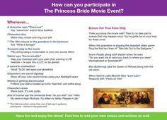 Princess Bride Interactive Movie Event! HAHAHA I WANT TO DO THIS!!!!