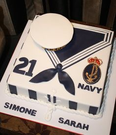 navy cake -Sandy's Cakes: August 2011