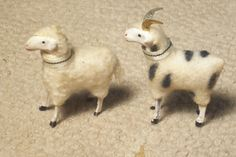 Putz Wooly Sheep RAM Matching Pair Gold Metal Horns German Germany Stick Leg | eBay  sold 136.50