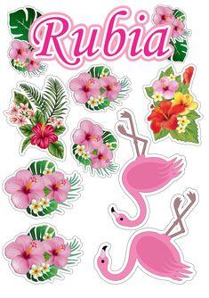 Best 12 topo de bolo flamingo com flores Flamingo Party, Flamingo Craft, Flamingo Decor, Flamingo Birthday, Tropical Party, Printable Stickers, Birthday Bash, Happy Planner, Cake Toppers
