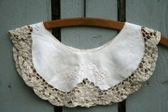lace and linen collar.