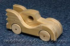 Batmobile easy to make with scraps of wood and a few basic tools. Free plans instant download from http://www.woodworkingdownunder.com/wooden_toy_car_plans.html