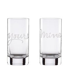 Yours and mine glassware