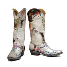 Painted cowboy boots...!