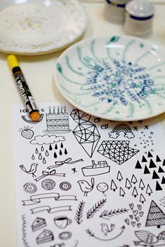 porcelain pen designs