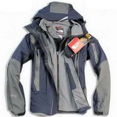 Cheap North Face Mens Triclimate 3 In 1 Jacket Blue Grey