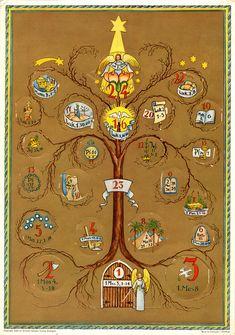 Richard Sellmer Advent Calendar, Bible Calendar, Illustrated by Elisabeth Lörcher Holiday Ideas, Bible, Advent Calendars, Traditional, Illustration, Christmas, German, Gifts, Culture