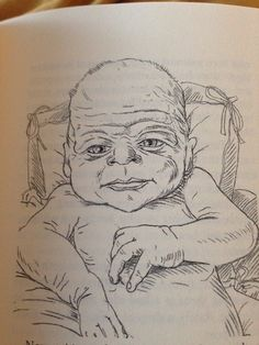 I don't think this illustrator is used to drawing babies.