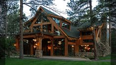 Texas Timber Frame Wood Exterior