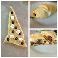 S'more Croissants. Easy for kids to make themselves!