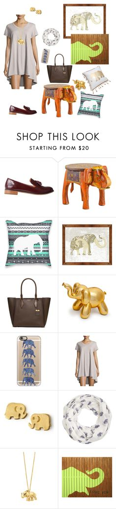 """Save the Elephants!!!"" by trendsetter12 ❤ liked on Polyvore featuring Vanishing Elephant, Universal Lighting and Decor, Michael Kors, Casetify, Jethro, Dogeared, Accessorize, Kate Spade, Sugarboo Designs and Elise & James Home"