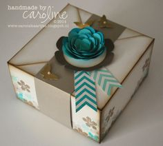 Floral box made with Envelope Punch board