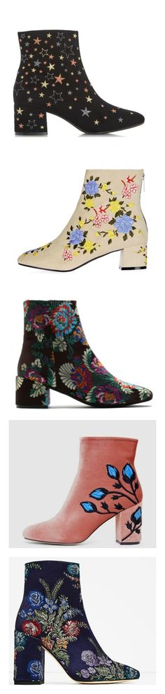 11 Of The Prettiest Embroidered Ankle Boots