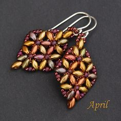 Gorgeous SuperDuo Earrings