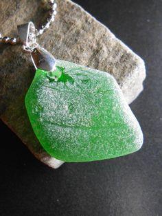 Sea Glass Necklace - Beach Glass Jewelry - Una Mas Cerveza Por Favor. 19.99, via Etsy.