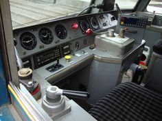 Driving controls of a class 57 at Crewe station 6.11.2015