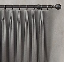 Wave Curtains, Drapes And Blinds, Pleated Curtains, Pinch Pleat Curtains, Drapery Panels, Curtain Styles, Curtain Designs, Drapery Styles, Restoration Hardware Curtains