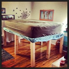 super high queen bed frame for a small apartment under 40 - High Queen Bed Frame