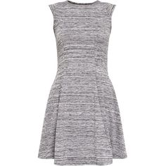 Cameo Rose Grey Space Dye Skater Dress (535 MXN) ❤ liked on Polyvore featuring dresses, grey, fit and flare cocktail dress, holiday dresses, gray dress, grey skater dress and mini dress