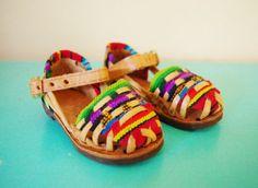 Vintage BabyToddler Mexican Sandals.