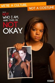 Students Teaching Against Racism in Society, an Ohio University student group, created the posters to highlight the racial stereotyping common in Halloween party dress. Thats The Way, Its Okay, Cultural Appropriation, Intersectional Feminism, Student Teaching, African American History, American Art, Social Issues, Thoughts
