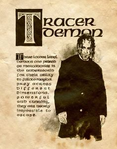 "Book of Shadows: ""Tracer Demon,"" by Charmed-BOS, at deviantART. Charmed Spells, Charmed Book Of Shadows, Charmed Tv Show, Charmed Sisters, Witch Spell, Wiccan Spells, Halloween Books, Halloween Ideas, Deviantart"