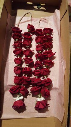 Red rose and pearl garland (jai mala)
