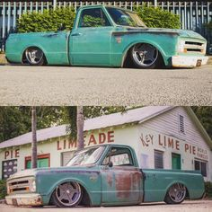 Hot Wheels - Super cool looking the business with that perfect stance and wheel package via 67 72 Chevy Truck, Chevy C10, Chevy Pickups, Chevrolet Trucks, Lowered Trucks, C10 Trucks, Bagged Trucks, Semi Trucks, Ford Galaxie