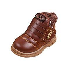 Chaussures,Malloom Chaussures En Cuir Bébé Filles Tout-Petits Bébés Garçons Enfants Hiver Bottes De Neige épaisse (22, Marron): Tweet…