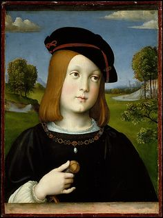 Federigo Gonzaga (1500–1540) Francesco Francia (Italian, Bologna ca. 1447–1517 Bologna) Date: 1510 Medium: Tempera on wood, transferred from wood to canvas and then again to wood Dimensions: Overall 18 7/8 x 14 in. (47.9 x 35.6 cm); painted surface 17 3/4 x 13 1/2 in. (45.1 x 34.3 cm)