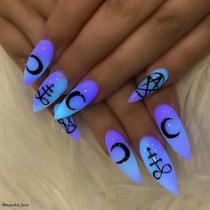 Top Coffin Nails Ideas For This Summer 2019 Page 10 . Top coffin nails ideas for this summer 2019 page 10 coffin nails designs for summer - Coffin Nails Halloween Acrylic Nails, Best Acrylic Nails, Acrylic Nail Designs, Nail Art Designs, Nails Design, Disney Acrylic Nails, Dark Nail Designs, Trendy Nails, Cute Nails