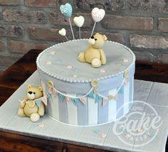 Fondant iced teddy bear cake.