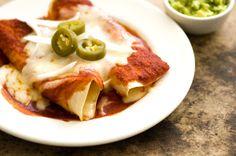 Red chile cheese enchiladas | Homesick Texan