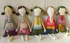 Chloe, Beatrice, Pixie, Poppy, Olive by krakracraft, via Flickr